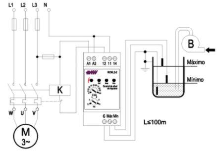 transmisor de nivel por electrodos