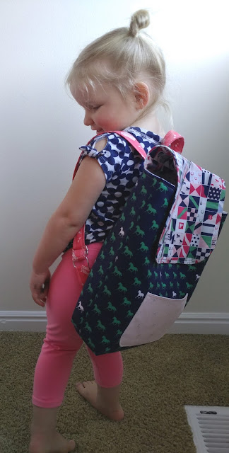 DIY Toddler Backpack Pattern Update, featured by top US sewing blog, Ameroonie Designs