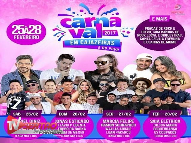 Cajazeiras lança programação oficial para o Carnaval 2017