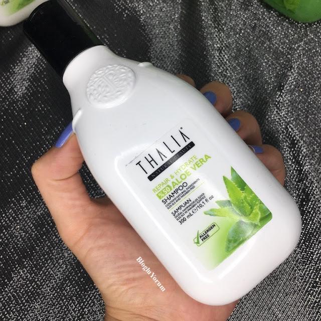 Thalia Natural Aloe Vera Onarıcı ve Nemlendirici Bakım şampuanı