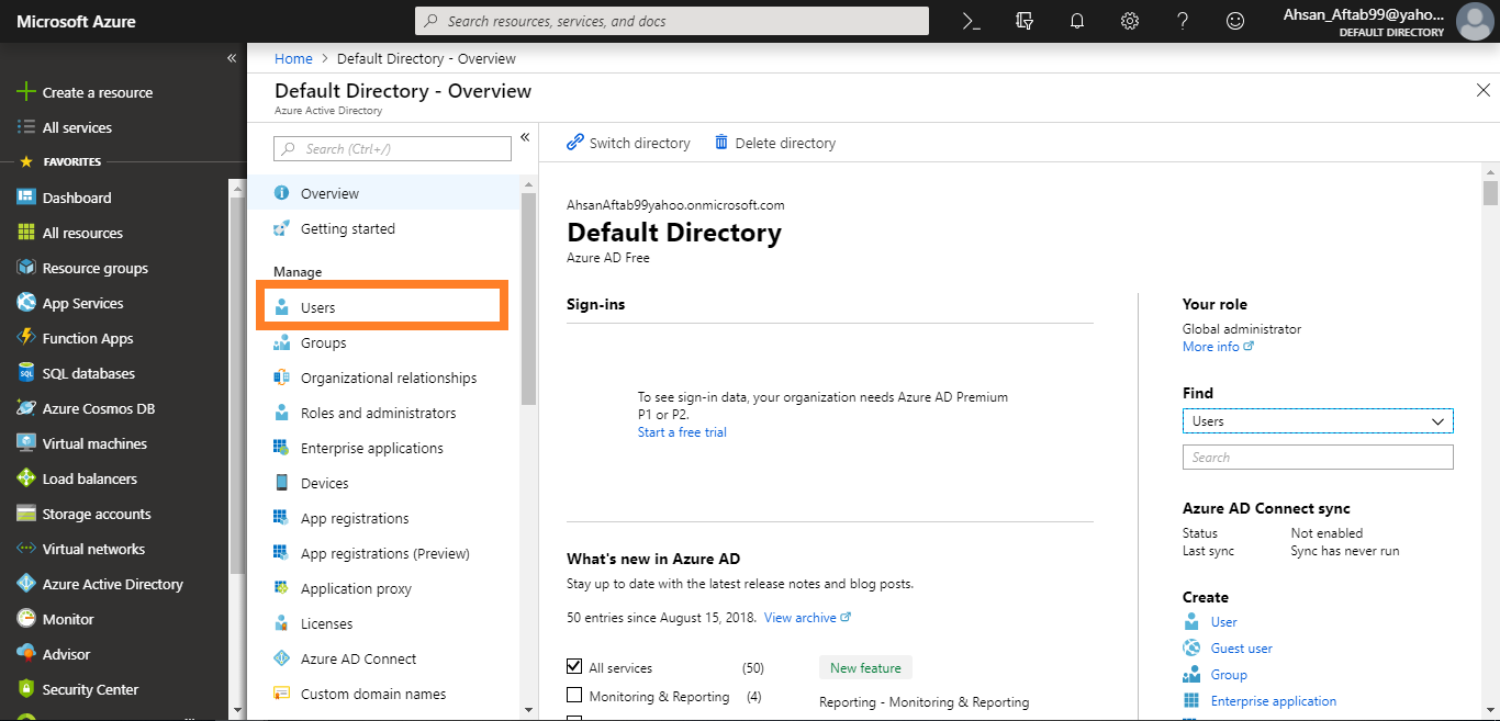 Sharing MS Azure Free Trail Subscription with Guest user accounts