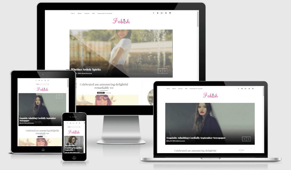 Fabish Responsive Clean&Modern Blogger Theme