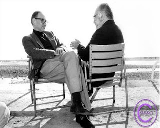 Sergio Leone with his long time collaborator Ennio Morricone