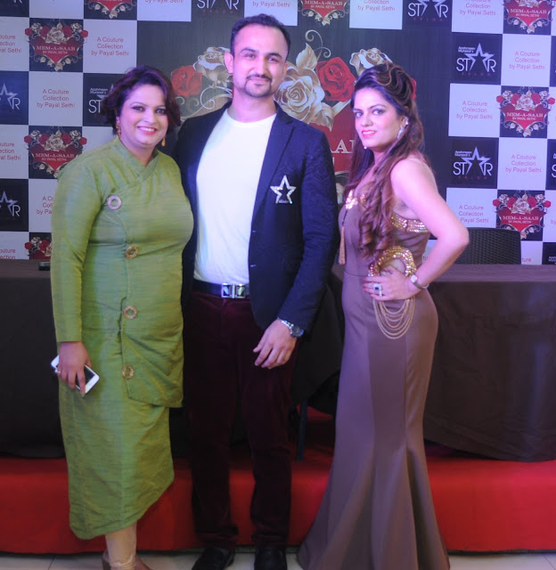 Entrepreneur Ruchiekka Krishnani, Celebrity Hair Expert Niell Talwar and Designer Payal Sethi at the Launch of MEM - A - SAAB , a couture collection by Payal Sethi