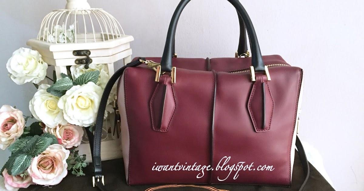 6087c7b56b6 I Want Vintage | Vintage Designer Handbags: TOD'S D-Cube Small Bowler Bag- Maroon/Pink