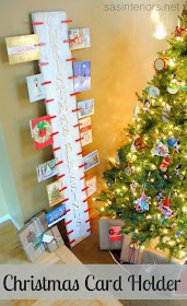 11 Ways to Organize with Clothespins - Christmas Card Holder:: OrganizingMadeFun.com
