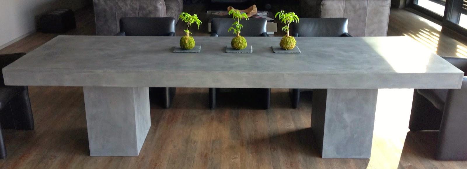 Betonoptik Mobel Massivholztisch Aufpeppen Tischplatte In