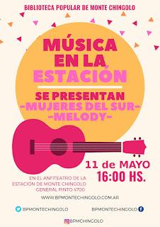 """""""Música en la Estación"""" reprogramado para el Sábado 11 de mayo por  la lluvia"""