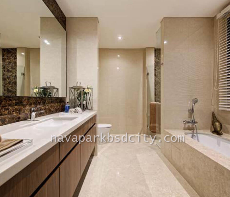 Contoh Interior Design Bathroom Tipe 12 Lakewood NavaPark