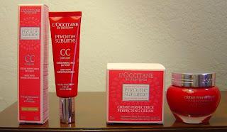 L'Occitane's Pivoine Sublime CC Cream (left) and Perfecting Cream (right).jpeg