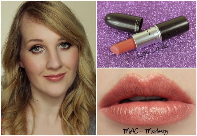 MAC Modesty lipstick swatch