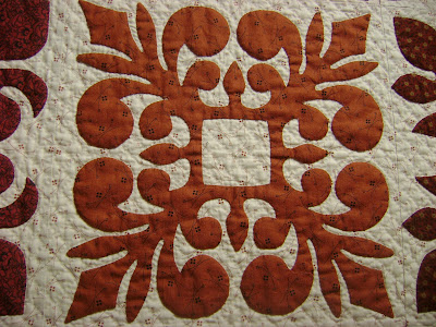 red white quilt; papercut quilt