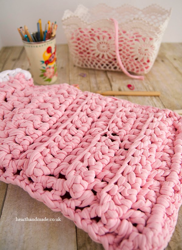 Zpagetti yarn in a crochet basket