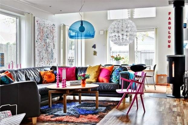 Living rooms with spring colors 7