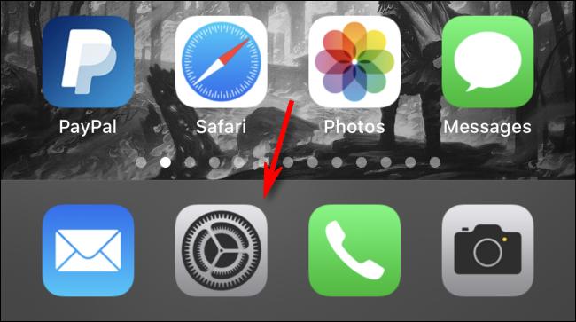 Icona ingranaggio iPhone
