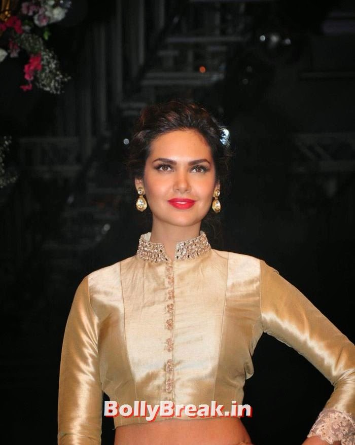 Esha Gupta, Pics of Manish Malhotra Show at Lakme Fashion Week 2014