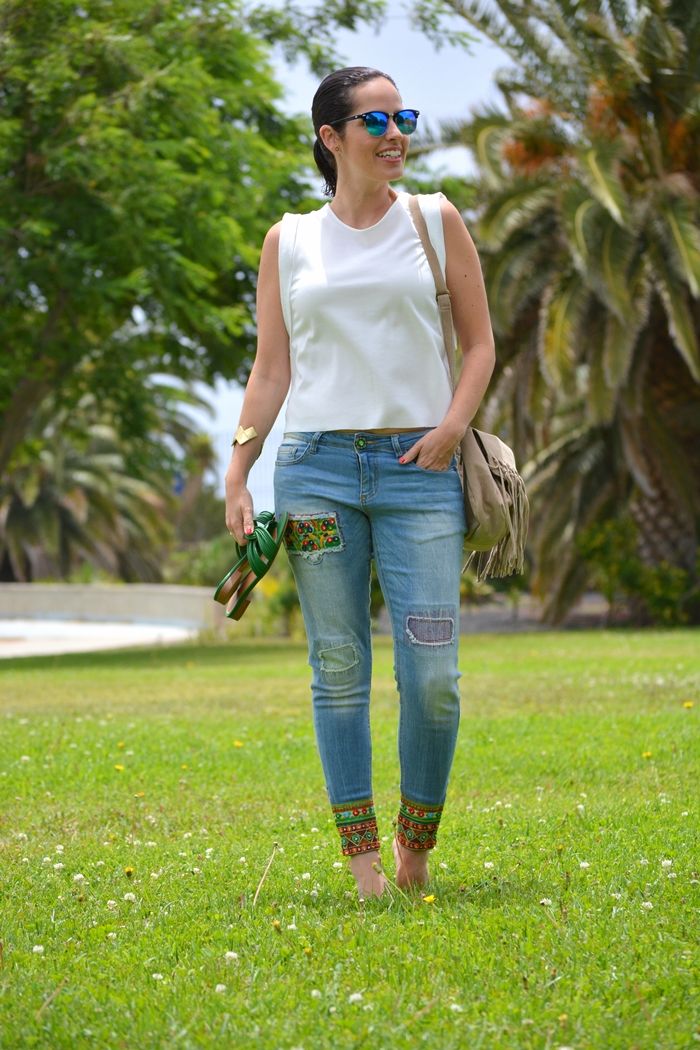 desigual-jeans-outfit-summer-green-zara-sandals