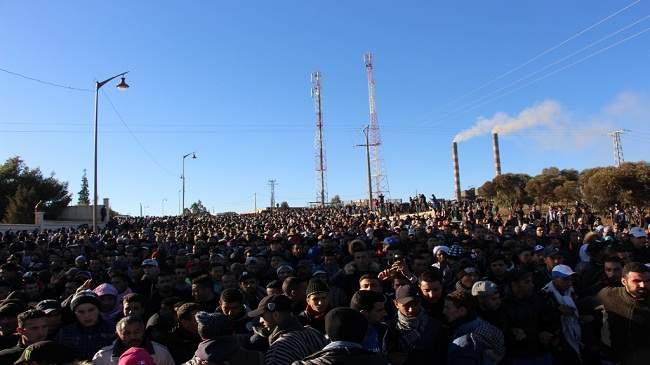 بداية حراك شعبي جديد بجرادة والمحتجون يرفعون شعارات الريف