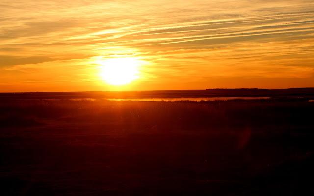 Puesta de sol en Villafáfila
