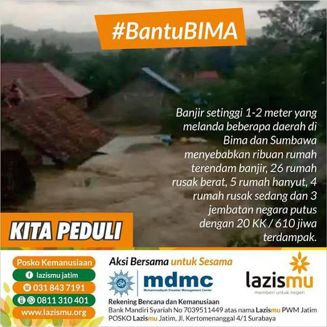 Aksi Donasi Bantu BIMA dari Banjir Bandang yang Melanda