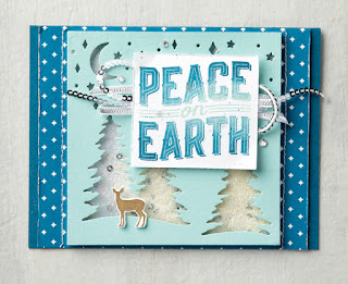 Stampin' Up! Carols for Christmas ~ 2017 Holiday Catalog ~ Peace on Earth card