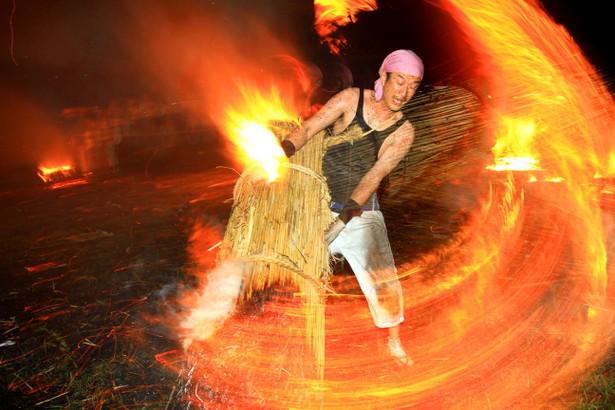 Hono no Saiten (Fire Work Festival), Toyohashi, Aichi
