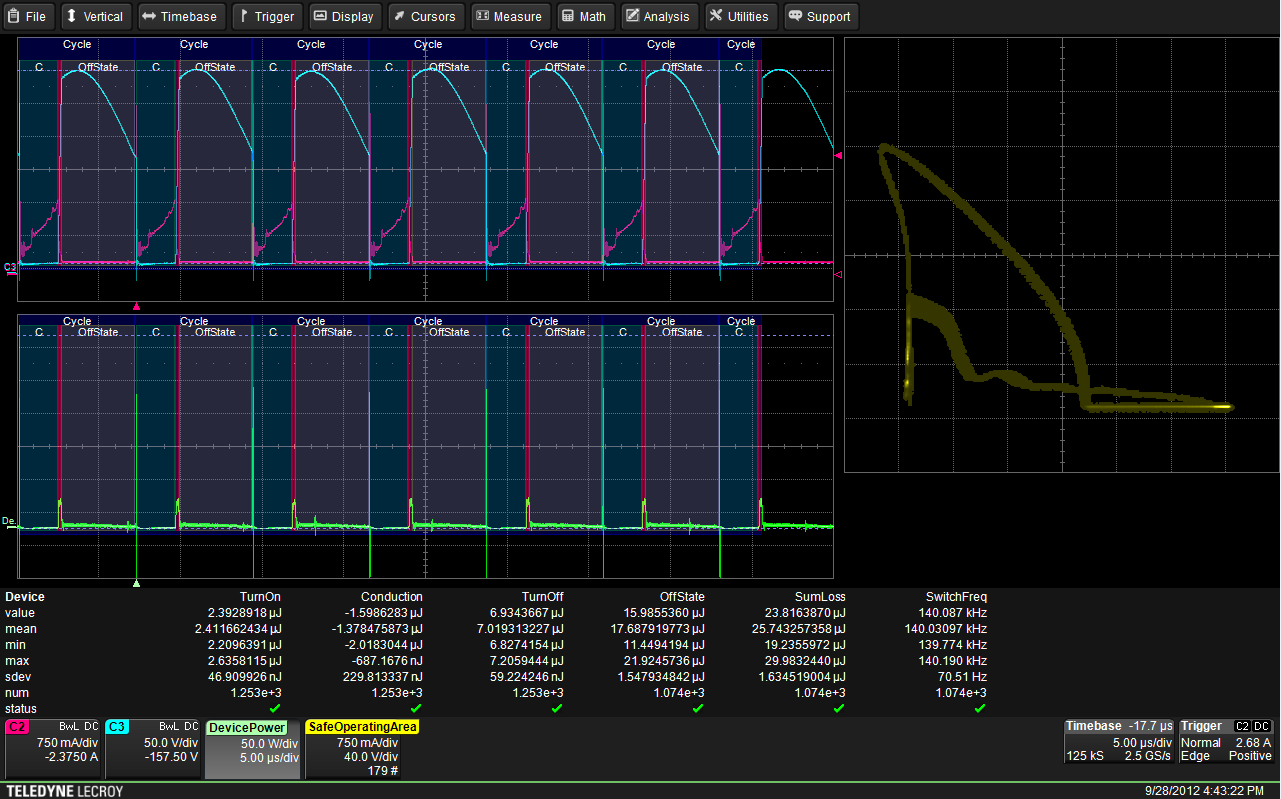 Teledyne LeCroy's Power Analysis software in action