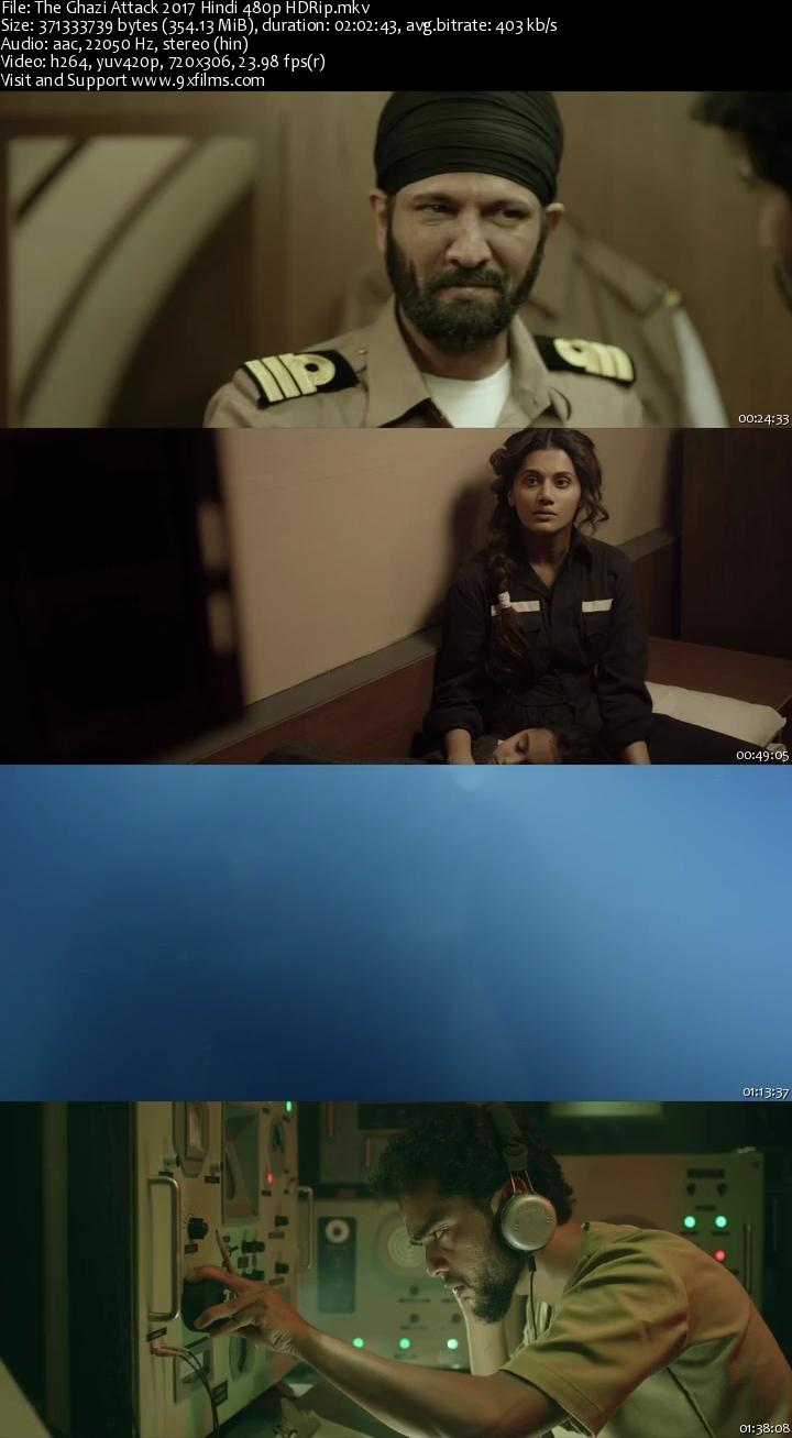 The Ghazi Attack 2017 HDRip 480p Hindi