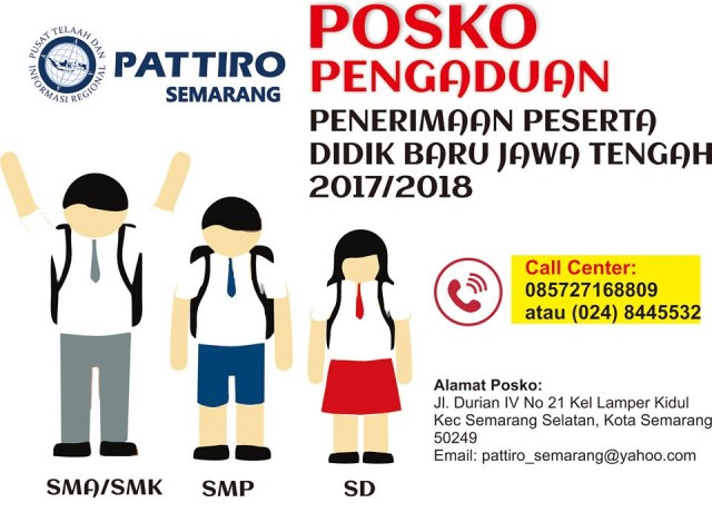 Pattiro buka posko pengaduan PPDB Jawa Tengah 2017/2018