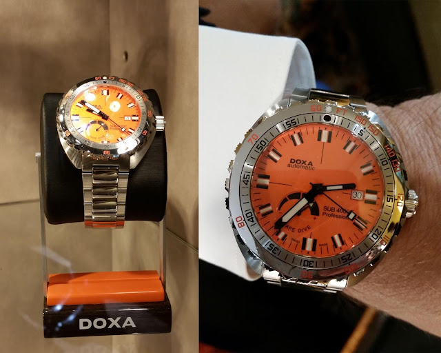 Doxa Taucheruhr mit Ziffernblatt in Orange