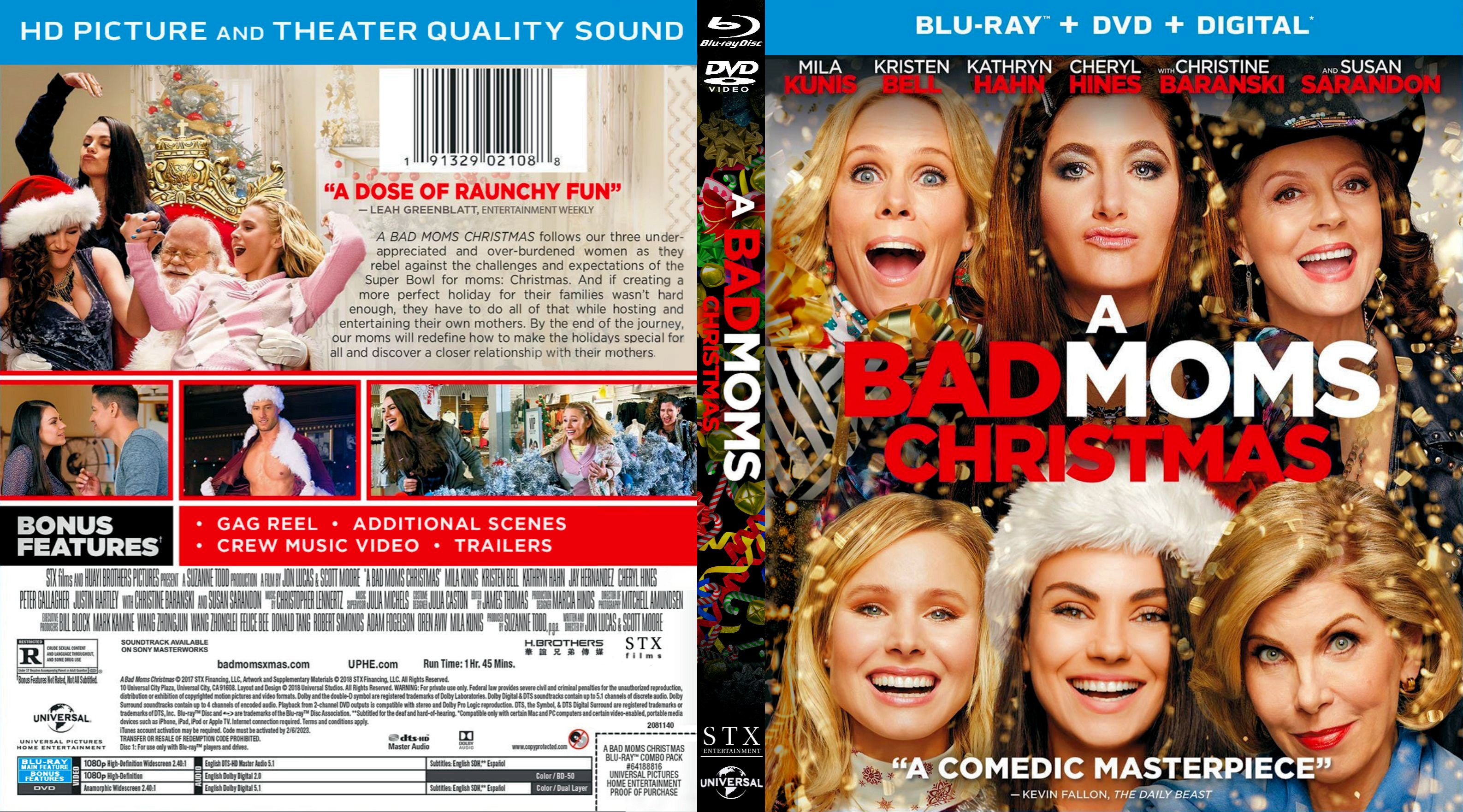 A Bad Moms Christmas Dvd Cover.A Bad Moms Christmas Bluray Dvd Cover Cover Addict Free