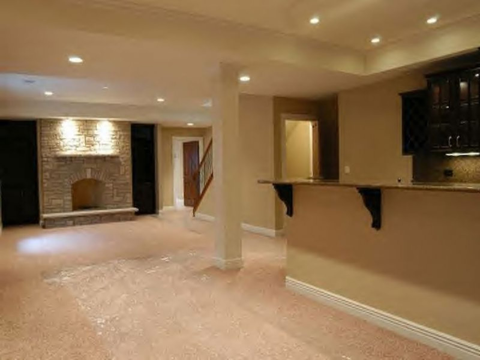 Basement Fireplace Ideas My Basement Ideas Modern Basement Finishing Ideas