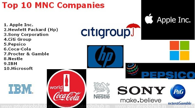 Top 10 MNC Companies to work for in India