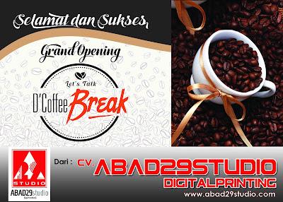 Desain Papan Bunga Print Grand Opening D'coffee Break