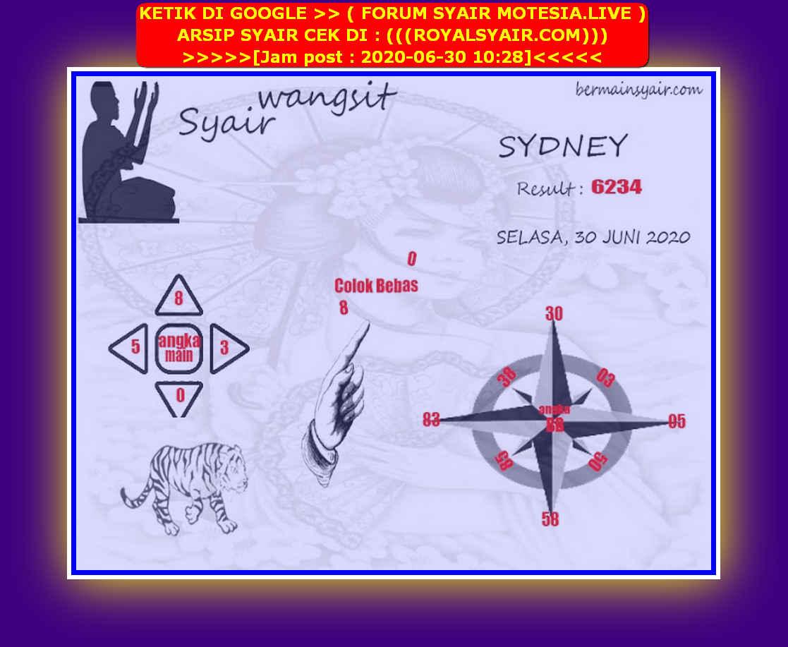 Kode syair Sydney Selasa 30 Juni 2020 209