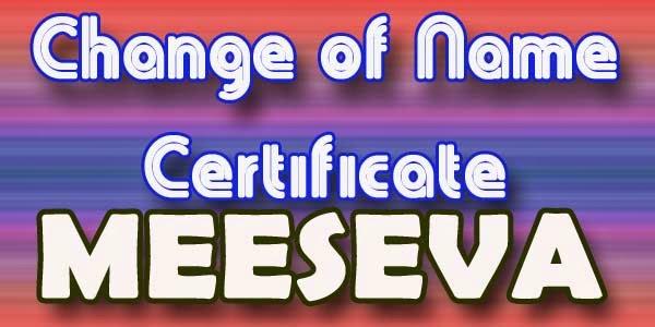 Change of Name Certificate Apply meeseva
