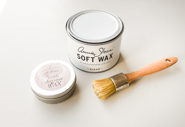 Clear and dark wax for sealing chalk painted furniture