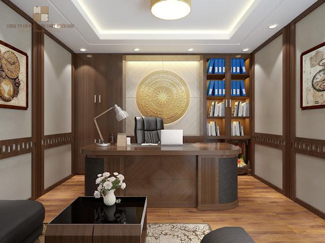 Thiết kế nội thất văn phòng giám đốc với những cách bài trí và kết hợp các chi tiết nội thất mới lạ đã giúp căn phòng trở nên cuốn hút hơn