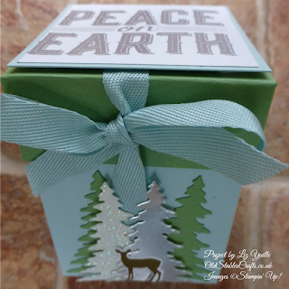 Carols of Christmas Soft Sky and Wild Wasabi Lidded Box