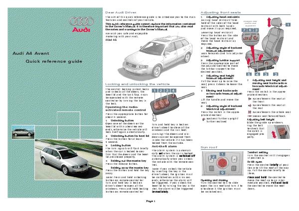 Audi Service Repair Manual PDF