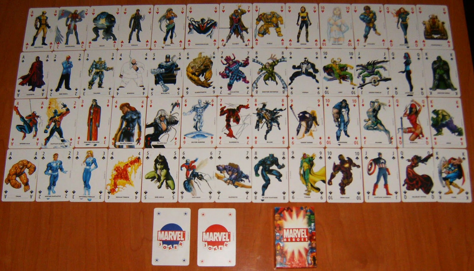 Comic Odinson Juegos De Cartas Naipes Marvel Superman Los Simpsons