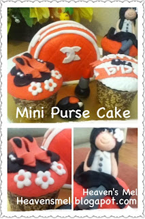 To Match The Mini Purse I Added In Eye Shadow And Lipstik Figurinesand For Cupcakes Made Sandal Girl Figurines As Toppers