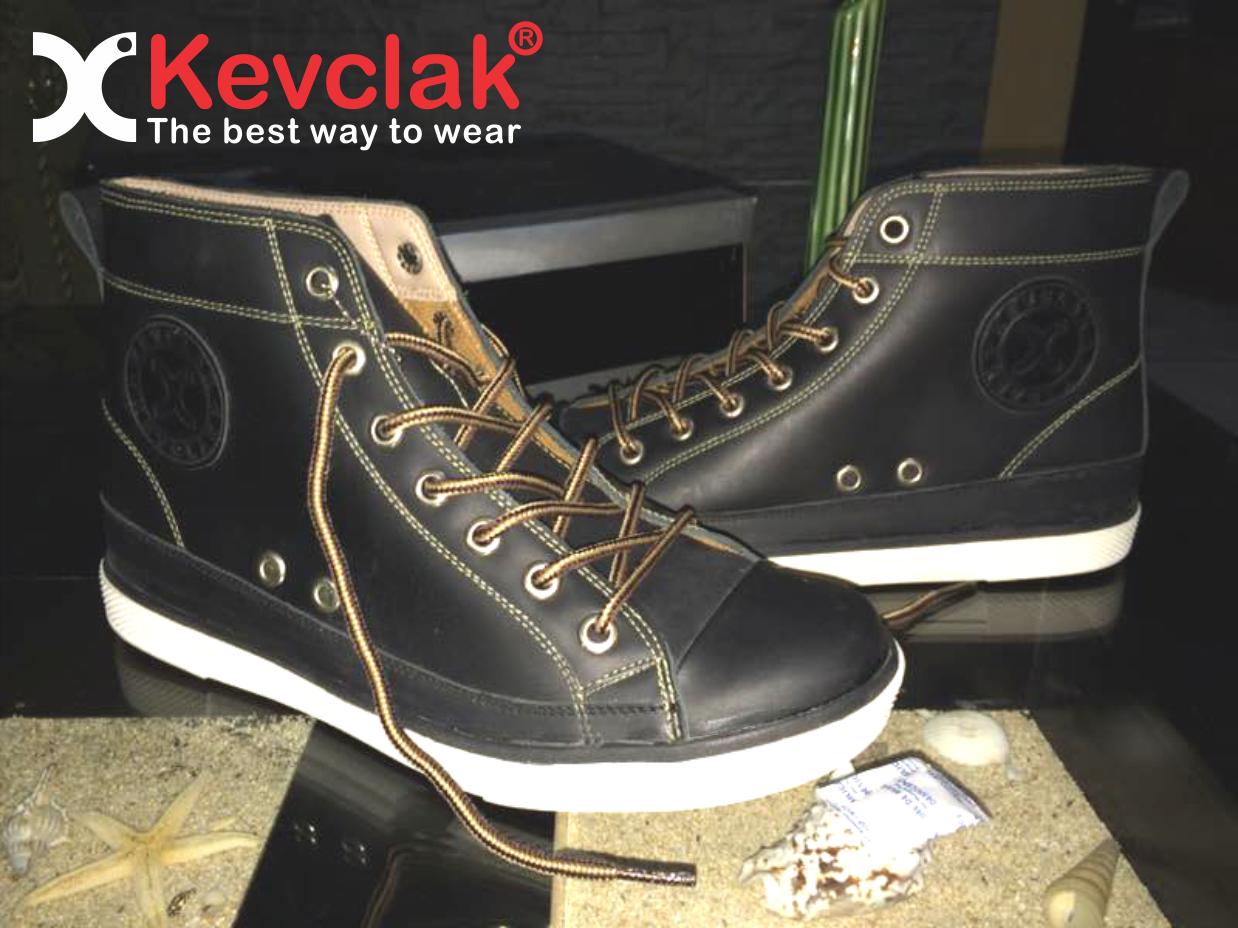 Sepatu Kulit Boot hitam black Gratis ongkos kirim