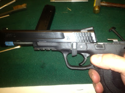 Disassembling a Smith & Wesson M&P 40 40, cleaning, firearm, gun, m&p, pistol, smith wesson Shooting Sports