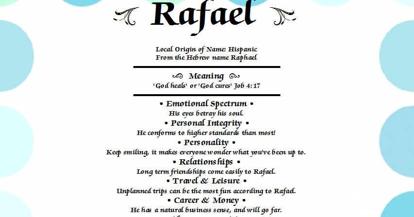 what does the name rafael mean