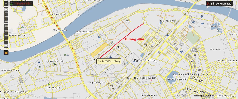 Lộ trình tuyến đường 40m.