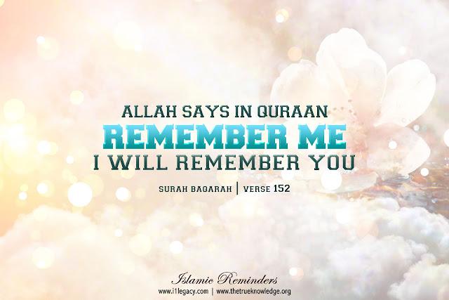 Allah Quotes - Allah says in Quran