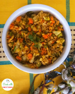 Kerela Style mix vegetable - Beans Thoran Recipe