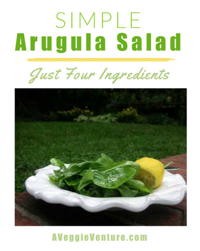 Simple Arugula Salad, another simple but special light salad ♥ AVeggieVenture.com. Vegan. Weeknight Easy, Company Special. Gluten Free. Low Carb. Whole30 Friendly. Weight Watchers Friendly.
