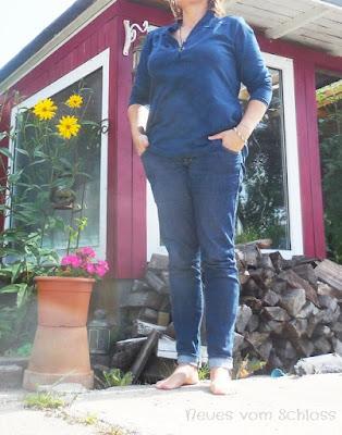 me made mittwoch, Blusenshirt Jersey- neuesvomschloss.blogspot.de